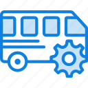 car, settings, transport, vehicle icon