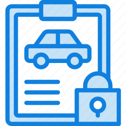 car, details, lock, transport, vehicle icon