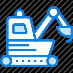 loader, transport, vehicle icon