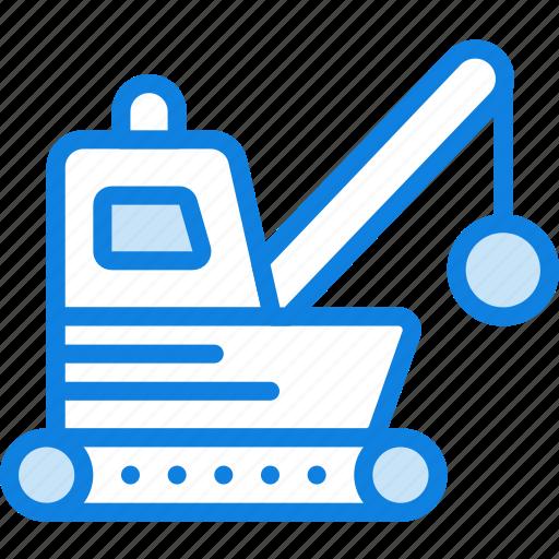 demolisher, transport, vehicle icon