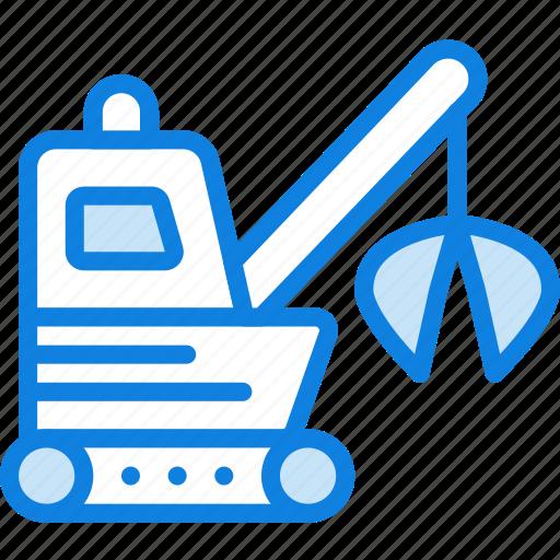 garbage, loader, transport, vehicle icon