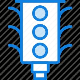 light, traffic, transport, vehicle icon