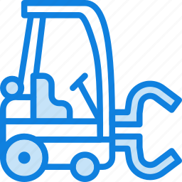 forklift, transport, vehicle icon