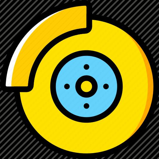 brake, disk, transport, vehicle icon