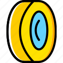 tire, transport, vehicle icon