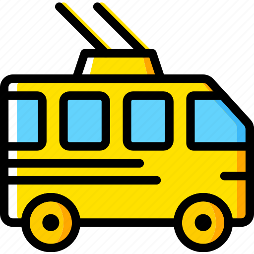 bus, transport, trolley, vehicle icon