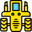 tractor, transport, vehicle icon