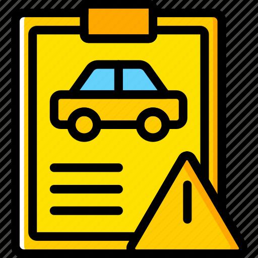 car, details, transport, vehicle, warning icon