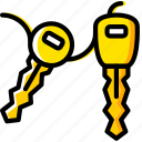 car, keys, transport, vehicle icon