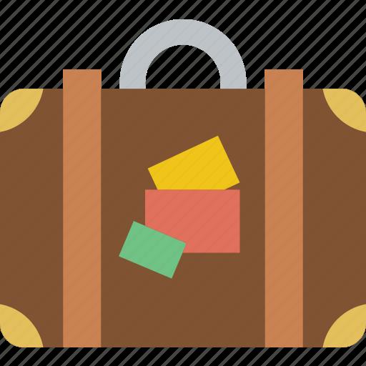 holiday, luggage, seaside, vacation icon