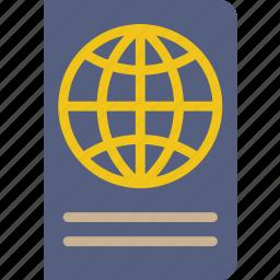 holiday, passport, seaside, vacation icon