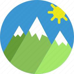 holiday, mountainside, seaside, vacation icon