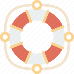 buoy, holiday, life, seaside, vacation icon