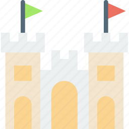 castle, holiday, sand, seaside, vacation icon