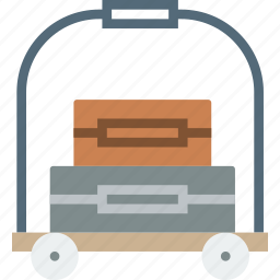 bellhop, holiday, seaside, vacation icon