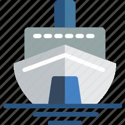 cruise, holiday, seaside, vacation icon