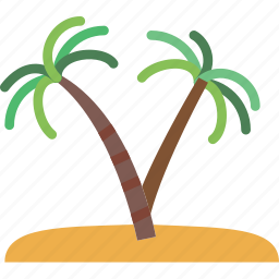 exotic, holiday, island, seaside, vacation icon