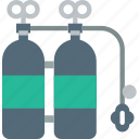 holiday, oxygen, seaside, tanks, vacation icon