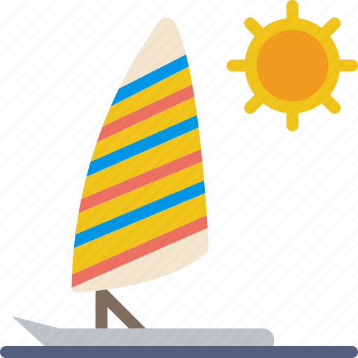 holiday, parasailing, seaside, vacation icon