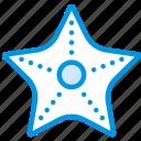 holiday, seaside, starfish, vacation, webby icon