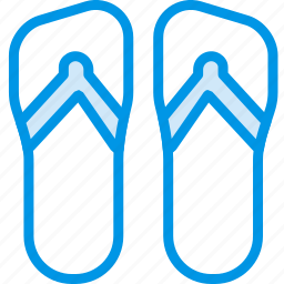 flip, flops, holiday, seaside, vacation, webby icon