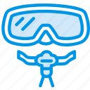 holiday, mask, scuba, seaside, vacation, webby icon