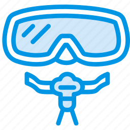 holiday, mask, scuba, seaside, vacation, webby icon