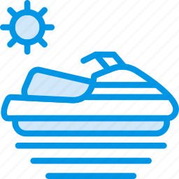 holiday, seaside, skijet, vacation, webby icon