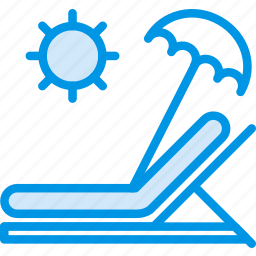 holiday, seaside, sunbed, vacation, webby icon
