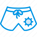 holiday, seaside, shorts, vacation, webby icon