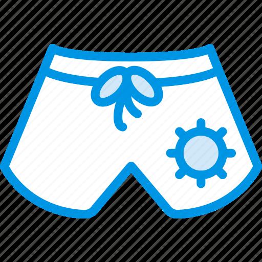 holiday, seaside, shorts, vacation, webby icon
