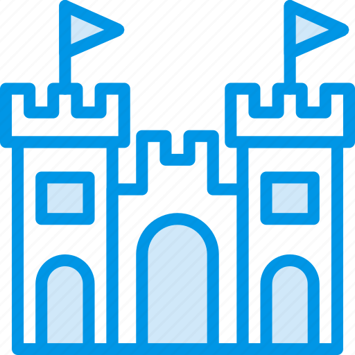 castle, holiday, sand, seaside, vacation, webby icon