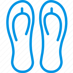 flip, flops, holiday, seaside, vacation, webby icon