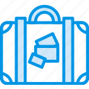 holiday, luggage, seaside, vacation, webby icon