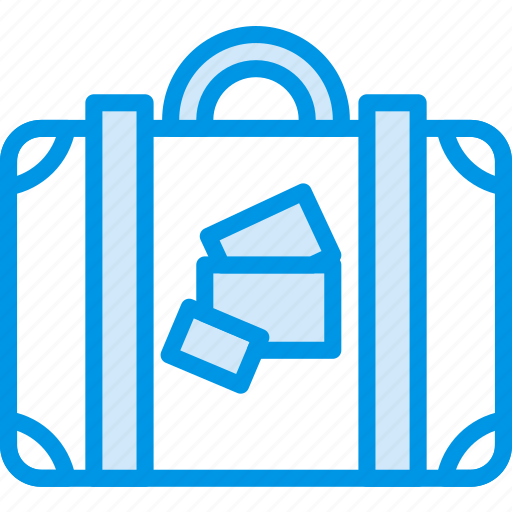 holiday, luggage, seaside, vacation, webby icon
