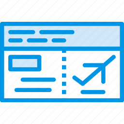 holiday, plane, seaside, tickets, vacation, webby icon