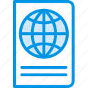 holiday, passport, seaside, vacation, webby icon