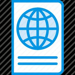 holiday, passport, seaside, vacation, webby icon