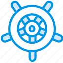 holiday, navigator, seaside, vacation, webby, wheel icon