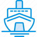 cruise, holiday, seaside, vacation, webby icon