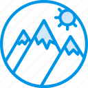 holiday, mountainside, seaside, vacation, webby icon