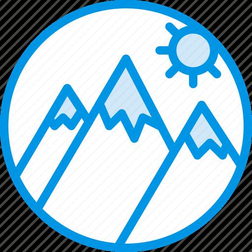 holiday, mountainside, seaside, vacation, webby icon