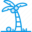 holiday, palm, seaside, vacation, webby icon