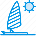 holiday, parasailing, seaside, vacation, webby icon