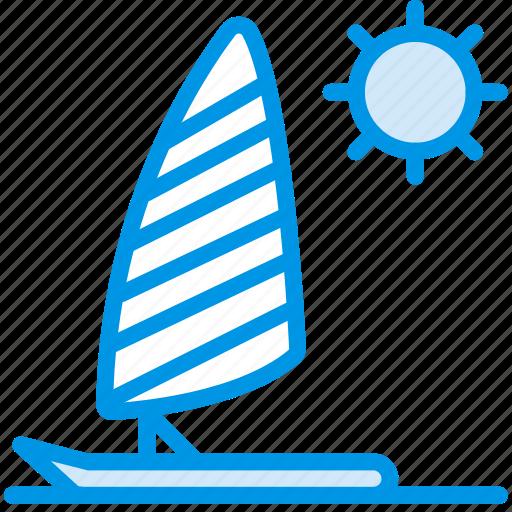 holiday, parasailing, seaside, vacation, webby icon