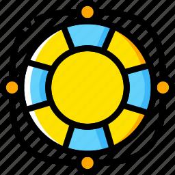 buoy, journey, life, travel, voyage, yellow icon