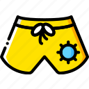 journey, shorts, travel, voyage icon