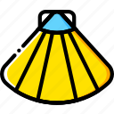 journey, sea, shell, travel, voyage, yellow icon