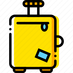 journey, travel, troller, voyage, yellow icon