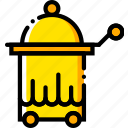 journey, room, service, travel, voyage, yellow icon
